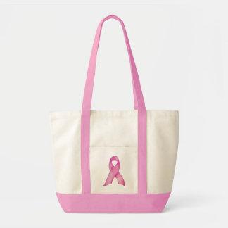Saco cor-de-rosa da fita sacola tote impulse