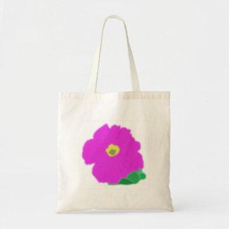 Saco cor-de-rosa da flor bolsas de lona