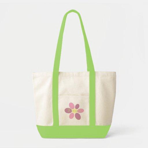 Saco cor-de-rosa da flor bolsa para compras