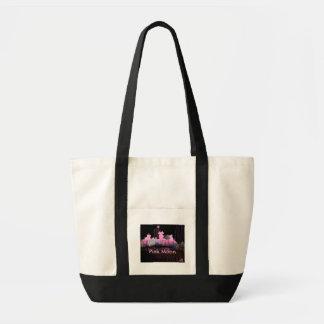 Saco cor-de-rosa da lua bolsas para compras