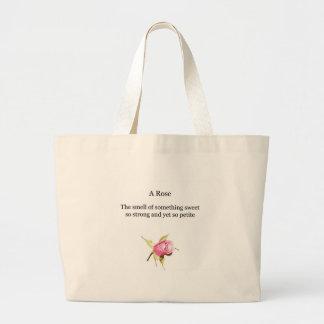 saco cor-de-rosa da poesia sacola tote jumbo