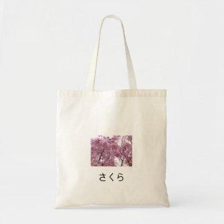 Saco cor-de-rosa de Sakura Sacola Tote Budget