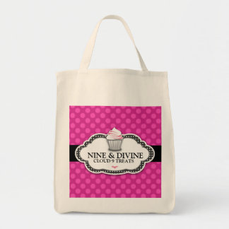 Saco cor-de-rosa divino de 311 pontos sacola tote de mercado