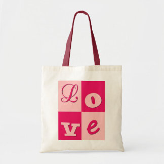 Saco cor-de-rosa do amor bolsa de lona