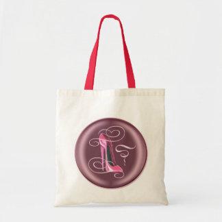 Saco cor-de-rosa do botão 3D do estilete Bolsa De Lona