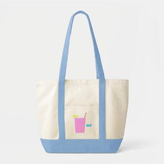 saco cor-de-rosa do copo sacola tote impulse
