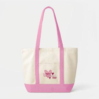Saco cor-de-rosa do dia dos namorados bolsa para compra