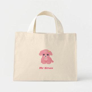 Saco cor-de-rosa do filhote de cachorro bolsas de lona