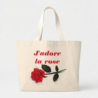 SACO cor-de-rosa do la de J'adore Sacola Tote Jumbo