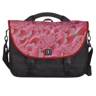 Saco cor-de-rosa do laptop do design do teste padr mala para laptop