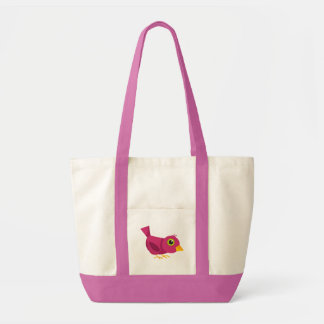 Saco cor-de-rosa do pássaro bolsa para compras