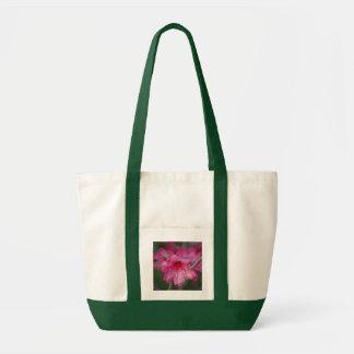 Saco cor-de-rosa dos rododendros sacola tote impulse
