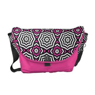 Saco cor-de-rosa hipnótico bolsa mensageiro