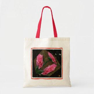 Saco cubado rosa do espaço do rosa sacola tote budget