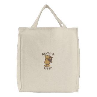 Saco customizável bonito do bordado do urso de Mom Bolsa