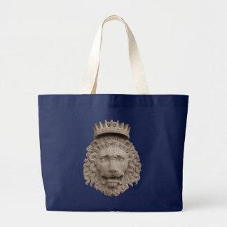 Saco customizável coroado do leão bolsa tote grande