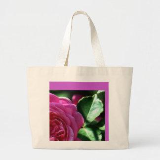 Saco customizável do rosa do rosa sacola tote jumbo