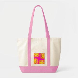Saco da arte abstracta do rosa quente sacola tote impulse