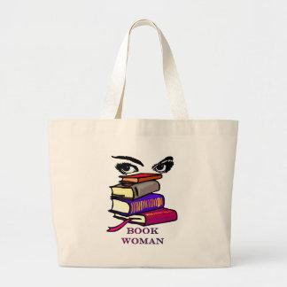 Saco da mulher do livro sacola tote jumbo