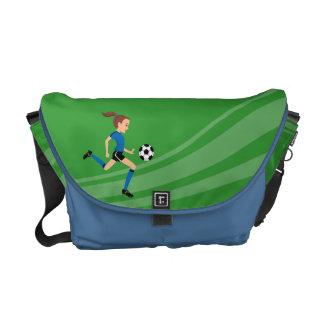 Saco da prática do jogador de futebol da menina bolsa mensageiro
