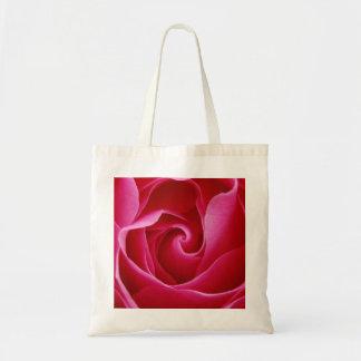 Saco da rosa vermelha bolsa tote