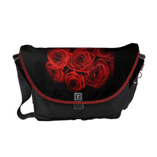 Saco da rosa vermelha bolsas mensageiro