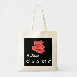 Saco da rosa vermelha sacola tote budget