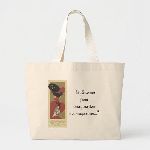 """""""Saco da senhora vermelha"""" estilo Bolsa Para Compras"""