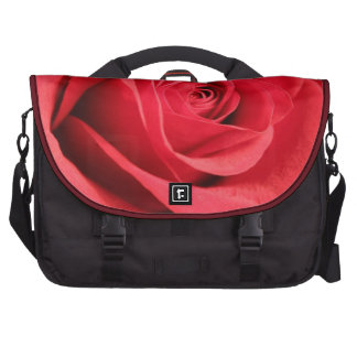 Saco da viagem ao trabalho da rosa vermelha pasta para laptop