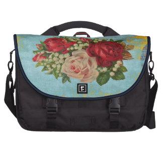 Saco da viagem ao trabalho laptop Retro-Rosas Mochila Para Notebook