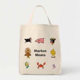 Saco de carne do mercado/mantimento bolsa tote