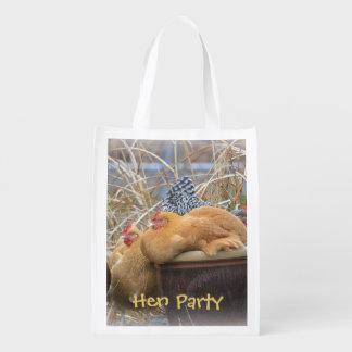 Saco de compras do partido de galinha sacolas ecológicas