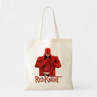 Saco de compras vermelho do cavaleiro bolsa tote