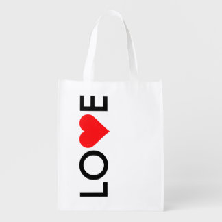 Saco de compras vermelho do dia dos namorados do sacolas ecológicas