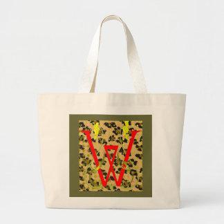 saco de compras vermelho do leopardo de w sacola tote jumbo