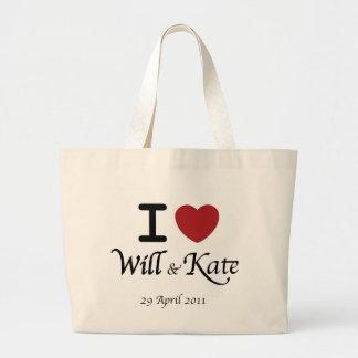 Saco de compras Wedding real de William e de Kate Sacola Tote Jumbo