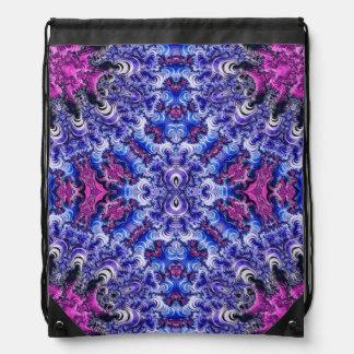 Saco de cordão azul roxo cor-de-rosa Trippy do Mochila