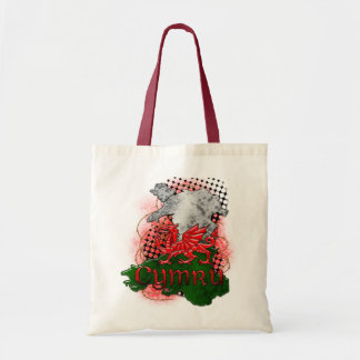 Saco de Galês com dragão vermelho Cymru e mapa Bolsa Para Compras