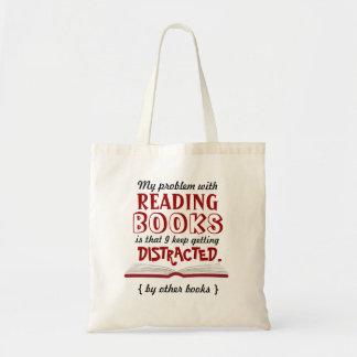 Saco de livro engraçado da leitura bolsas