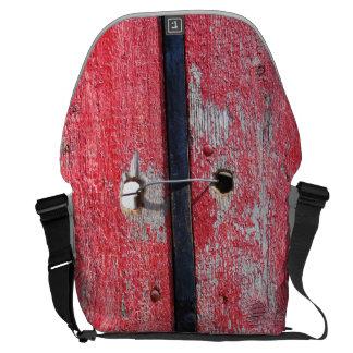 Saco de madeira do laptop do mensageiro do motivo bolsa mensageiro