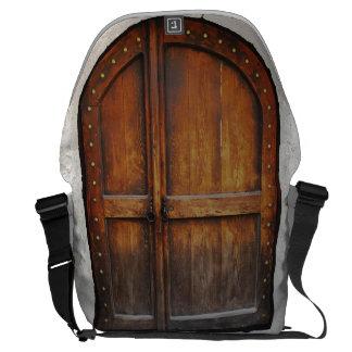 Saco de madeira do laptop do mensageiro do teste bolsas mensageiro