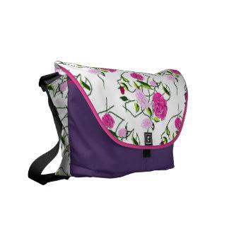 Saco de mensageiro sebe de rosa bolsa mensageiro