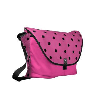 Saco de noite das bolinhas do rosa quente bolsas mensageiro