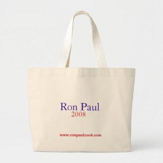 Saco de Ron Paul 2008 Bolsa Tote Grande