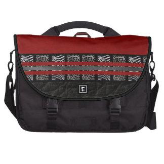 Saco de seda vermelho do laptop do leopardo da pastas para laptop