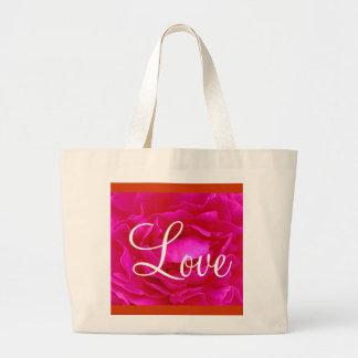 Saco do amor II do rosa do rosa Bolsas De Lona