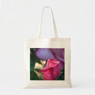 Saco do close up do rosa do rosa sacola tote budget