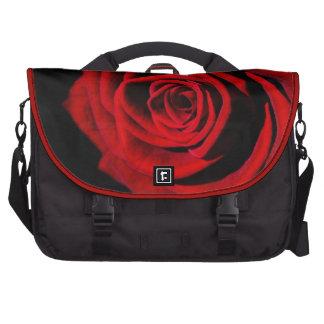 Saco do computador da rosa vermelha pasta para notebook