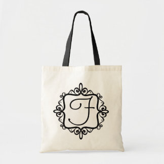 Saco do favor do casamento do monograma bolsa tote