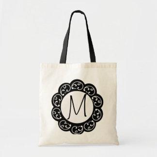 Saco do favor do casamento do monograma bolsas